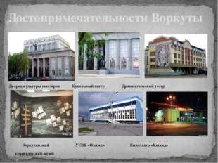 Дворец культуры шахтёров Кукольный театр Драмматический театр Воркутинский У