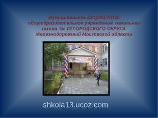 Муниципальное БЮДЖЕТНОЕ общеобразовательное учреждение начальная школа № 13 Г