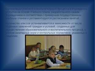 Организация учебного и воспитательного процесса в Учреждении строится на осн