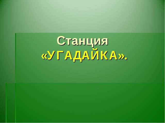 Станция «УГАДАЙКА».