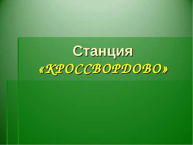 Станция «КРОССВОРДОВО»