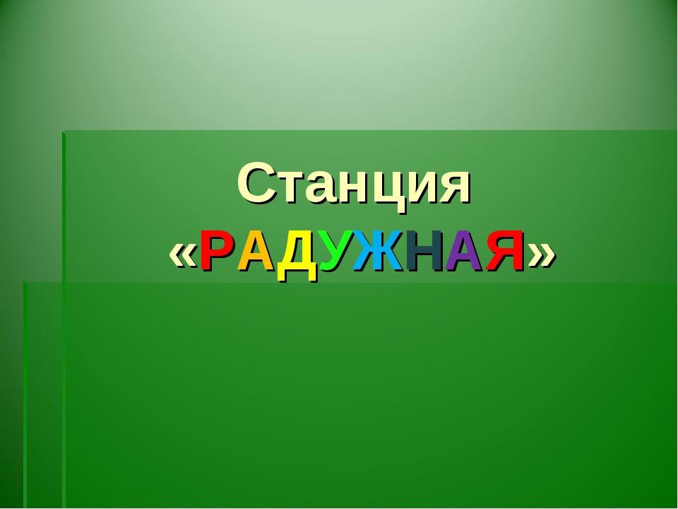 Станция «РАДУЖНАЯ»
