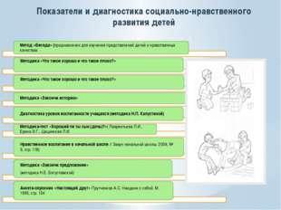 Показатели и диагностика социально-нравственного развития детей