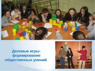 Деловые игры-формирование общественных умений