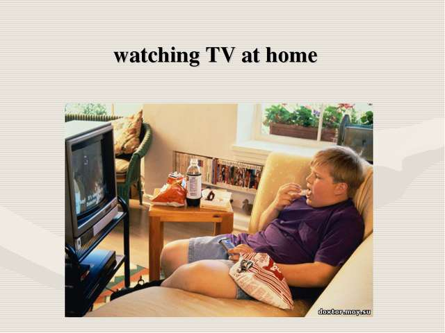 watching TV at home