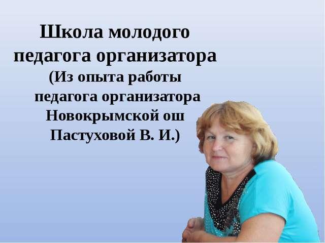Школа молодого педагога организатора (Из опыта работы педагога организатора Н...