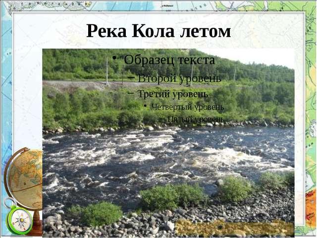 Река Кола летом