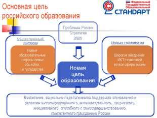* * * Основная цель российского образования Новая цель образования Новые техн