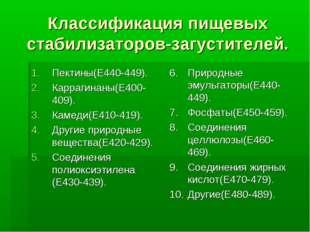 Классификация пищевых стабилизаторов-загустителей. Пектины(Е440-449). Карраги