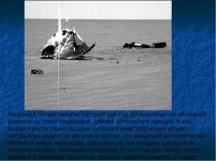 Марсоход Оппортьюнити, который уже год путешествует по обширной равнине на пл