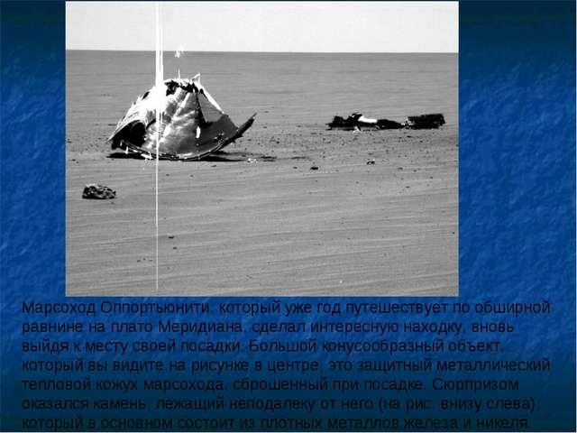Марсоход Оппортьюнити, который уже год путешествует по обширной равнине на пл...