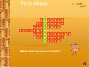 Кроссворд Строение книги а р ш н ж л п е п е р т е л т и ц а р т с Какое сло