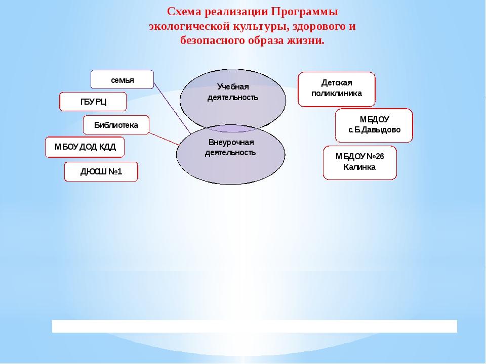Схема реализации Программы экологической культуры, здорового и безопасного об...