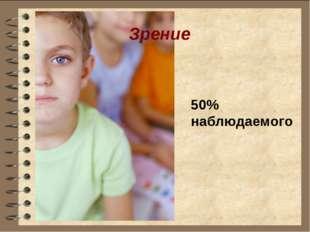 Зрение 50% наблюдаемого