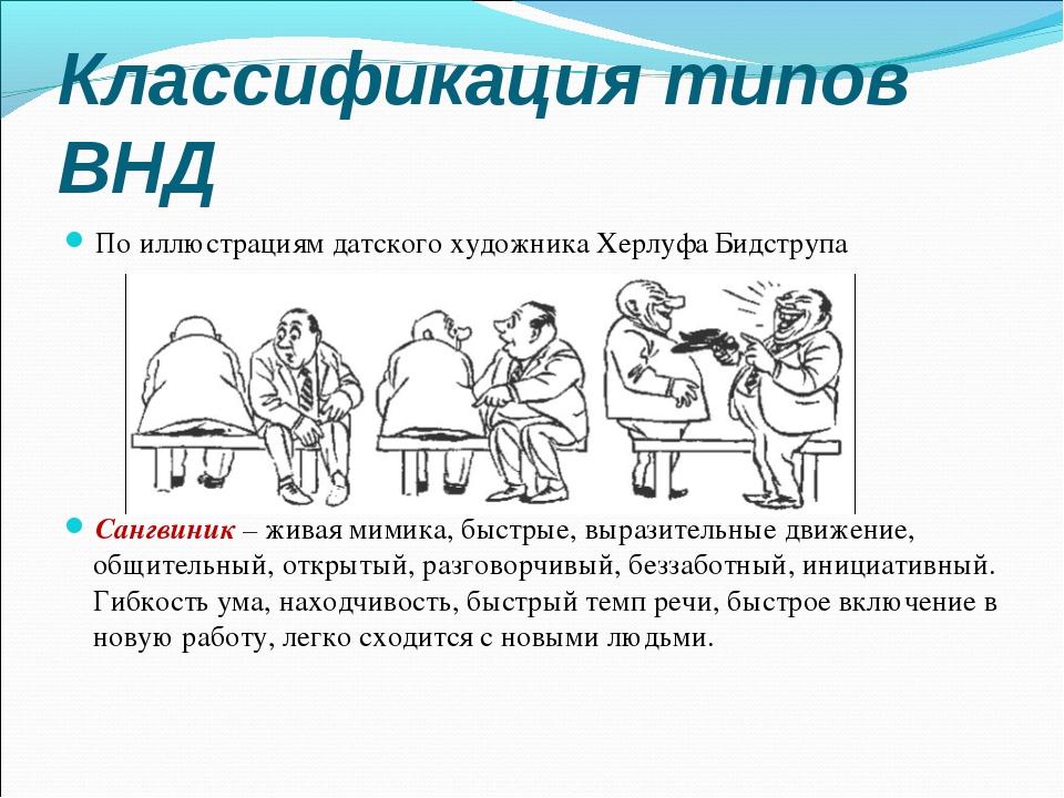 Классификация типов ВНД По иллюстрациям датского художника Херлуфа Бидструпа...