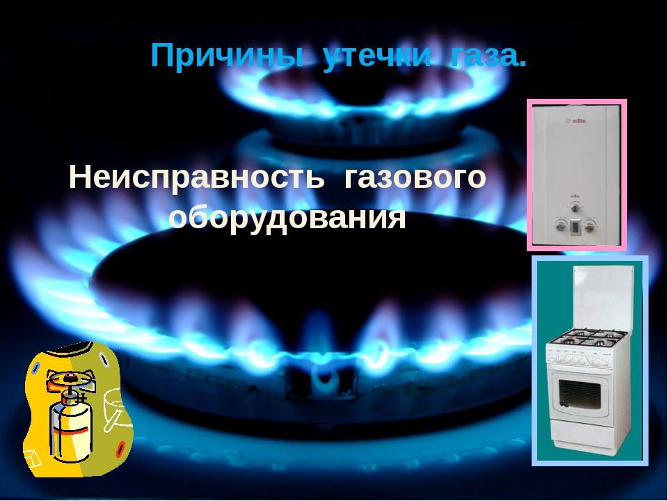 Причины утечки газа. Неисправность газового оборудования