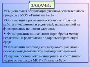 Рациональная организация учебно-воспитательного процесса в МОУ «Гимназия № 1