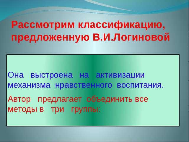 Рассмотрим классификацию, предложенную В.И.Логиновой Она выстроена на активиз...