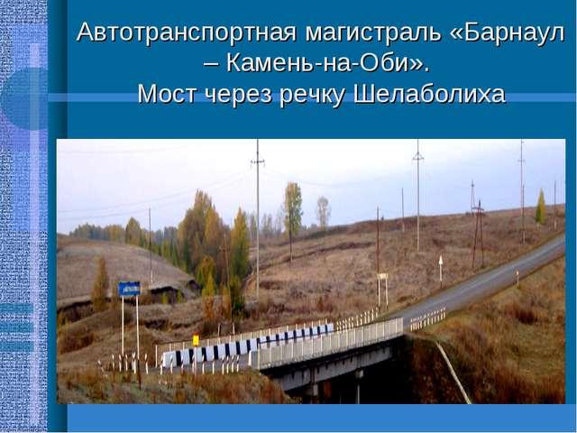 Автотранспортная магистраль «Барнаул – Камень-на-Оби». Мост через речку Шелаб...