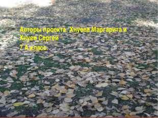 Авторы проекта: Хнуева Маргарита и Хнуев Сергей 7 А класс.