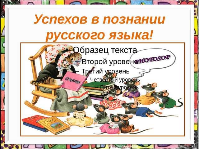 Успехов в познании русского языка!