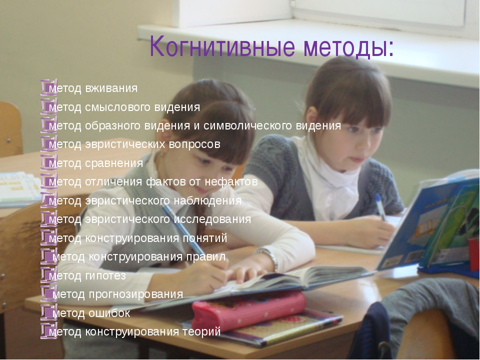 Когнитивные методы: метод вживания метод смыслового видения метод образного в...