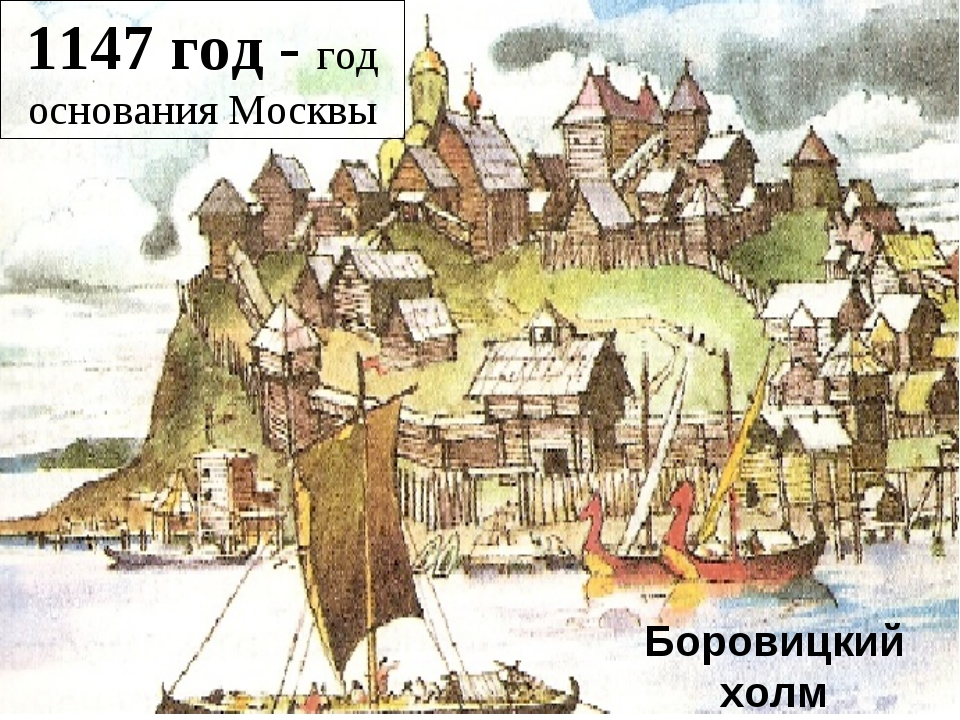 Боровицкий холм 1147 год - год основания Москвы