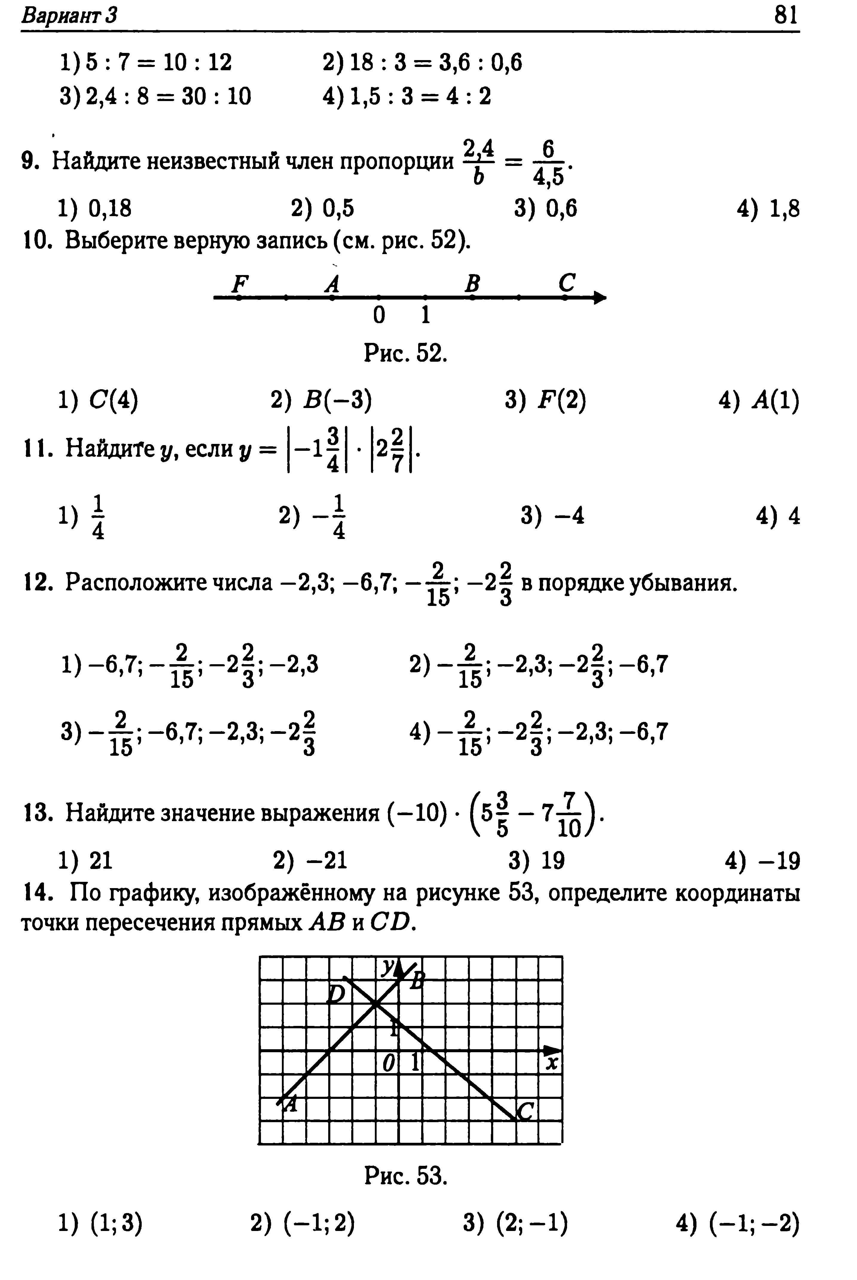 Итоговый тест по математике 6 класс 2 четверть зубарева мордкович