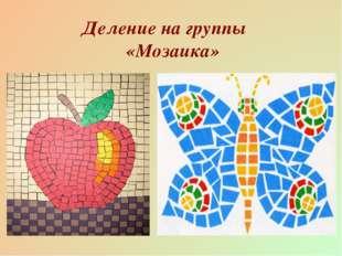 Деление на группы «Мозаика»