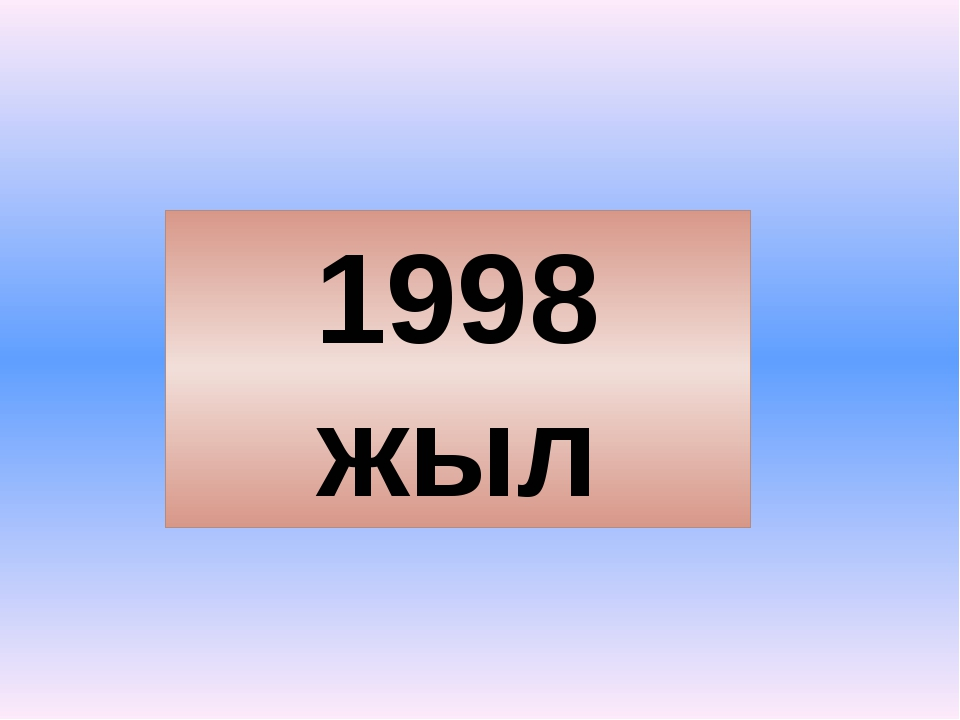 1998 жыл