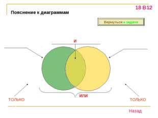 Пояснение к диаграммам «Торты» «Пироги» «Торты И Пироги» «Торты ИЛИ Пироги» Т