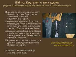Бій під Крутами: є така думка (наукові дослідження НДІ українознавства та дос