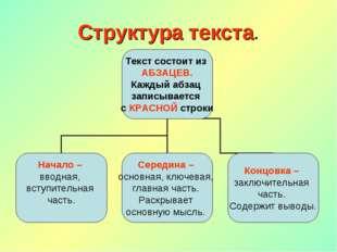 Структура текста.