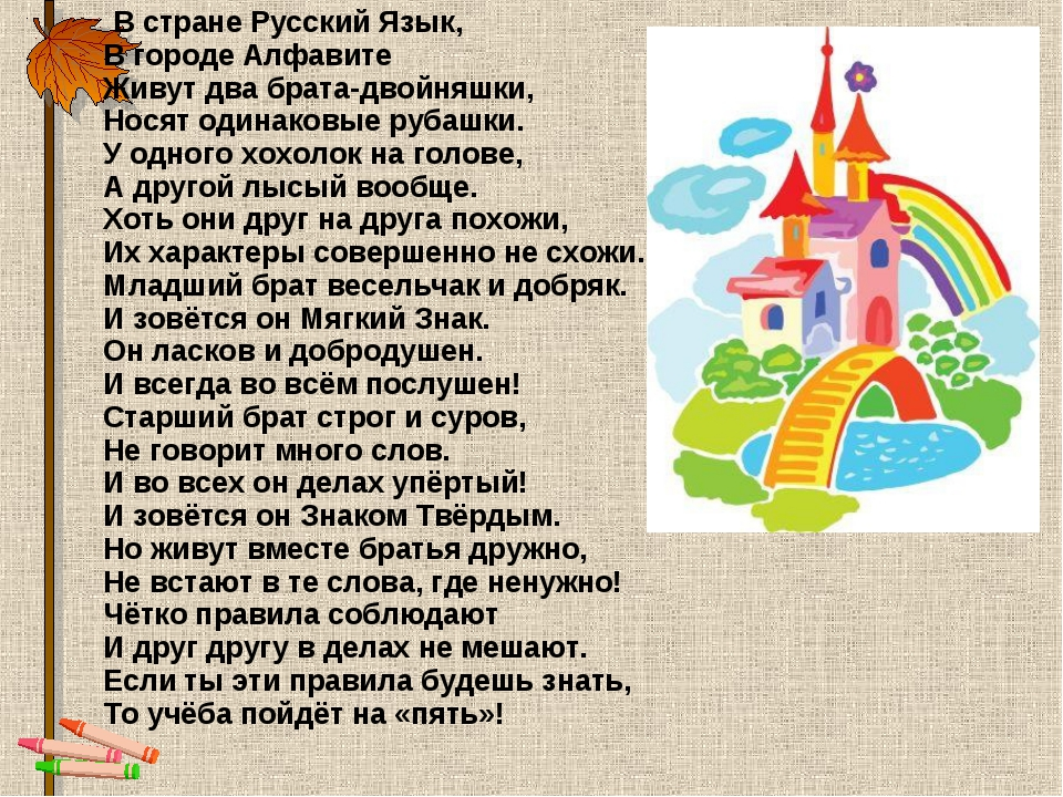 В стране Русский Язык, В городе Алфавите Живут два брата-двойняшки, Носят од...