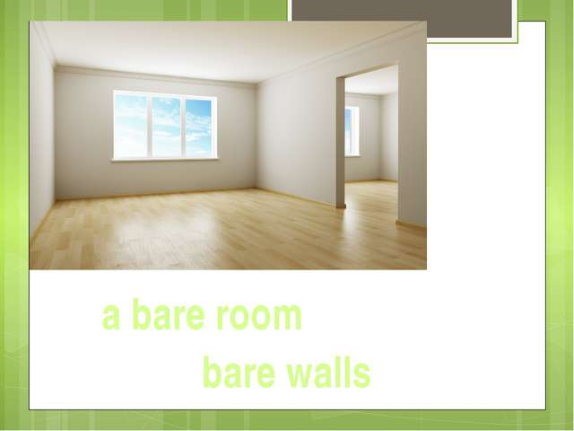 a bare room bare walls