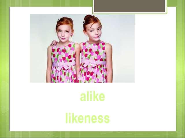 alike likeness