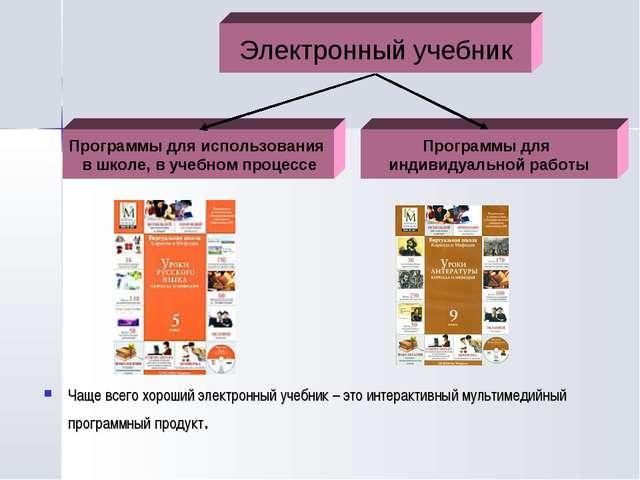 Чаще всего хороший электронный учебник – это интерактивный мультимедийный пр...