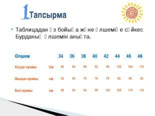 №6тапсырма Пішім парағына енгізілетін өлшем түрі: А 6 В 5 С 3 Д 4 Е 2 №7 тап