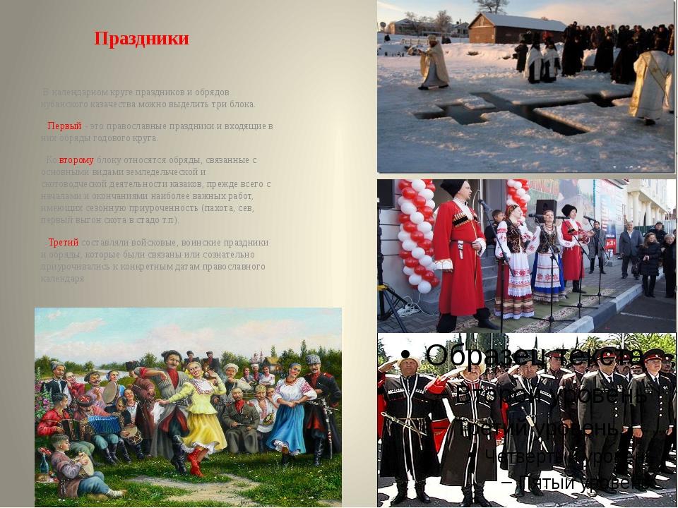 Праздники В календарном круге праздников и обрядов кубанского казачества можн...