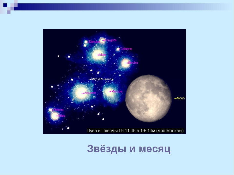 Звёзды и месяц