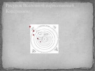 Рисунок Вселенной нарисованный Коперником