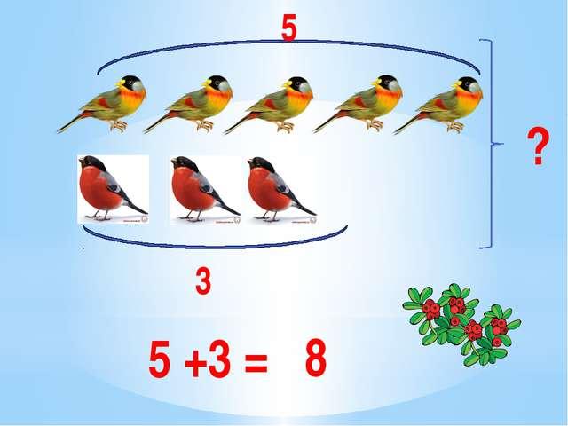 3 5 ? 5 +3 = 8