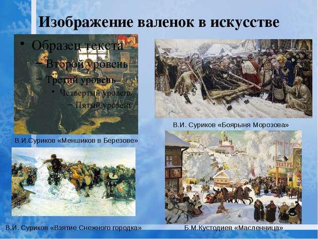 Изображение валенок в искусстве В.И.Суриков «Меншиков в Березове» В.И. Сурико...