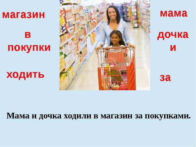 дочка и мама в покупки за Мама и дочка ходили в магазин за покупками. магазин...