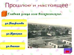 Главная улица села Воскресенского. ул.Ленина ул.Пушкина ул.Панфилова 3
