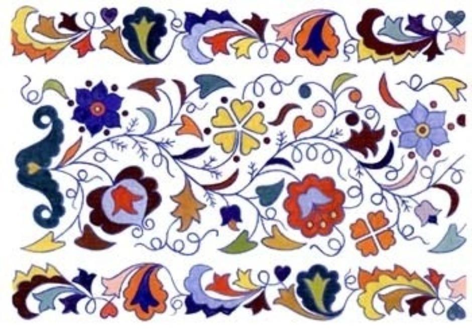 Как ни различны растительные орнаменты в вышивках других поволжских народов, до конца XIX века среди них почти не