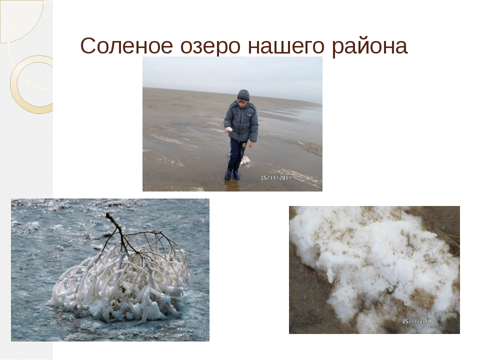 Соленое озеро нашего района