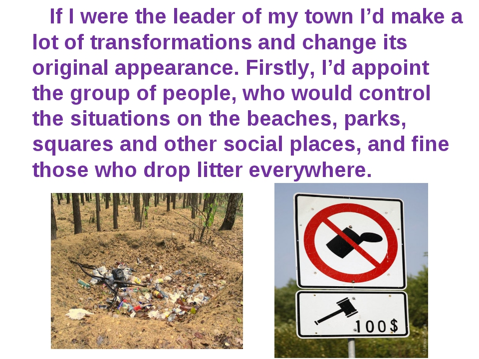 If I were the leader of my town I'd make a lot of transformations and change...