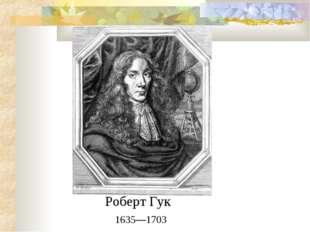 Роберт Гук 1635—1703