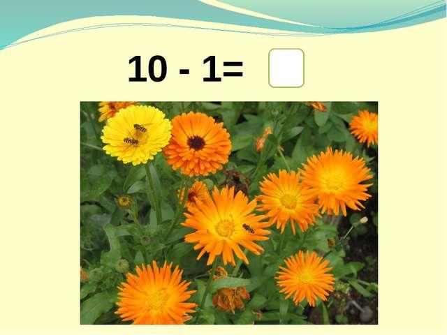 10 - 1= 9